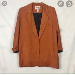 Burnt Orange Oversize Blazer